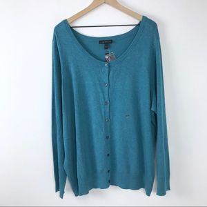 NWT Lane Bryant blue cardigan 22 24